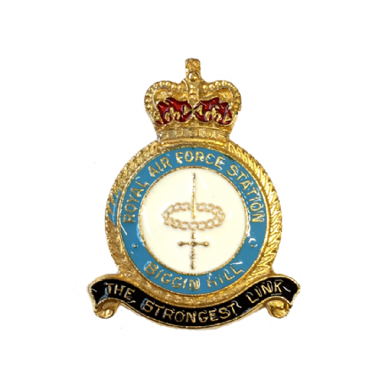 Royal Air Force RAF Biggin Hill Lapel Badge